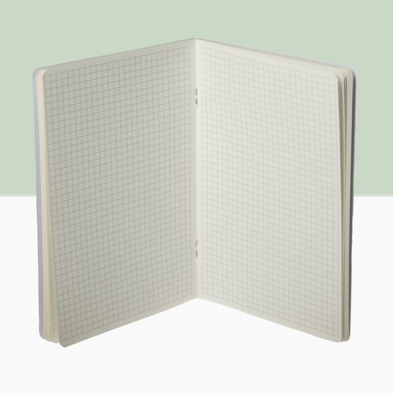 Jegyzetfüzet - kockás (galambszürke)